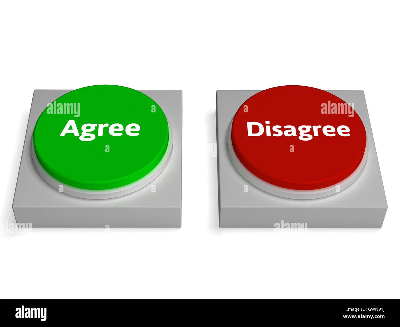 D'accord Pas d'accord Accord montre les boutons Banque D ...
