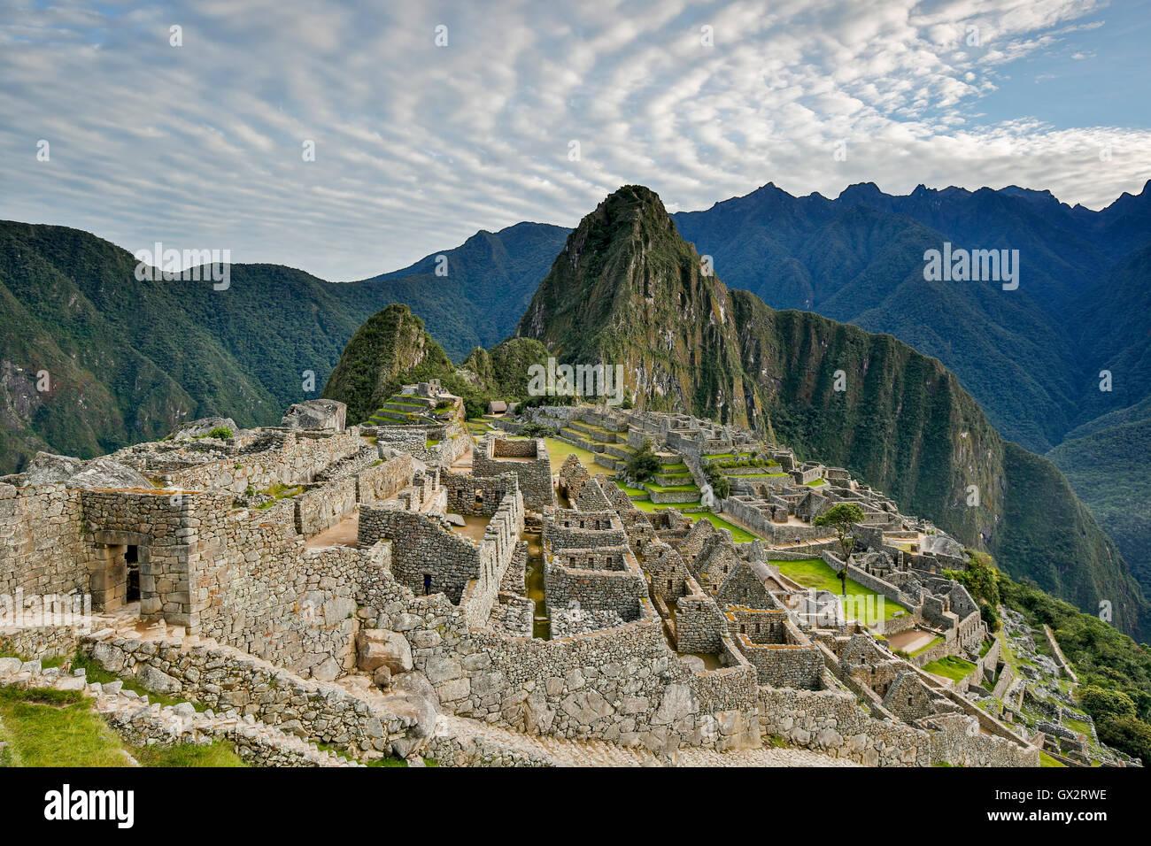 Ruines de Machu picchu, Cusco, Pérou Photo Stock