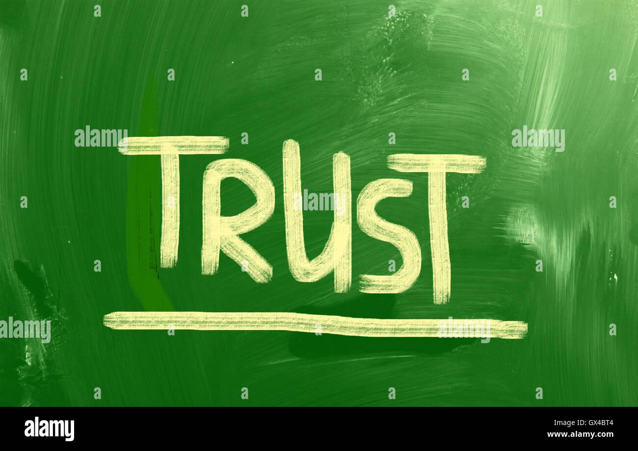 Concept de confiance Banque D'Images