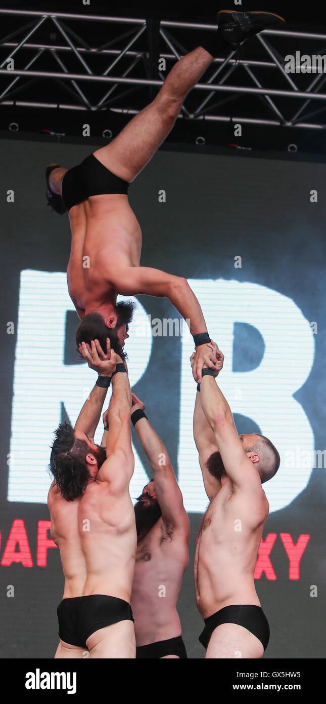 West End Live Jour 2 - Performances - troupe comprend: Barbu Barbu où la Troupe: London, Royaume Photo Stock