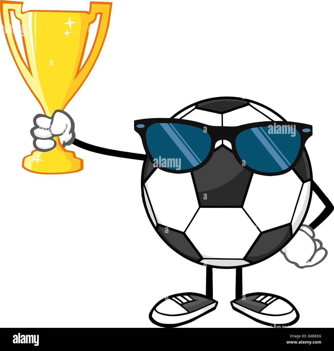 Ballon de foot gagnant dessin anim sans visage avec des - Dessin ballon foot ...