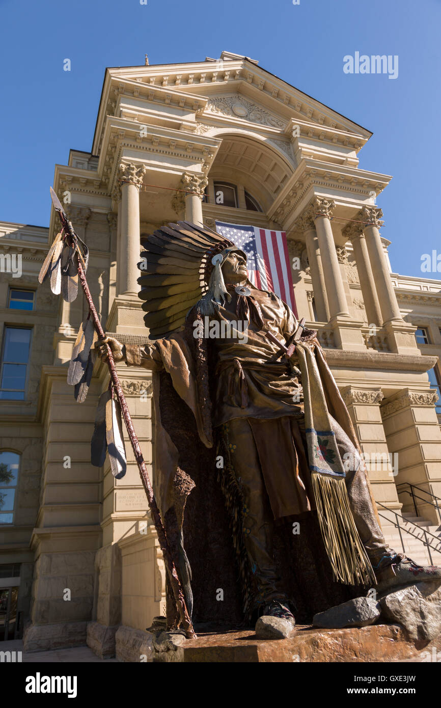 Statue de chef de la tribu shoshone Washakie au Wyoming