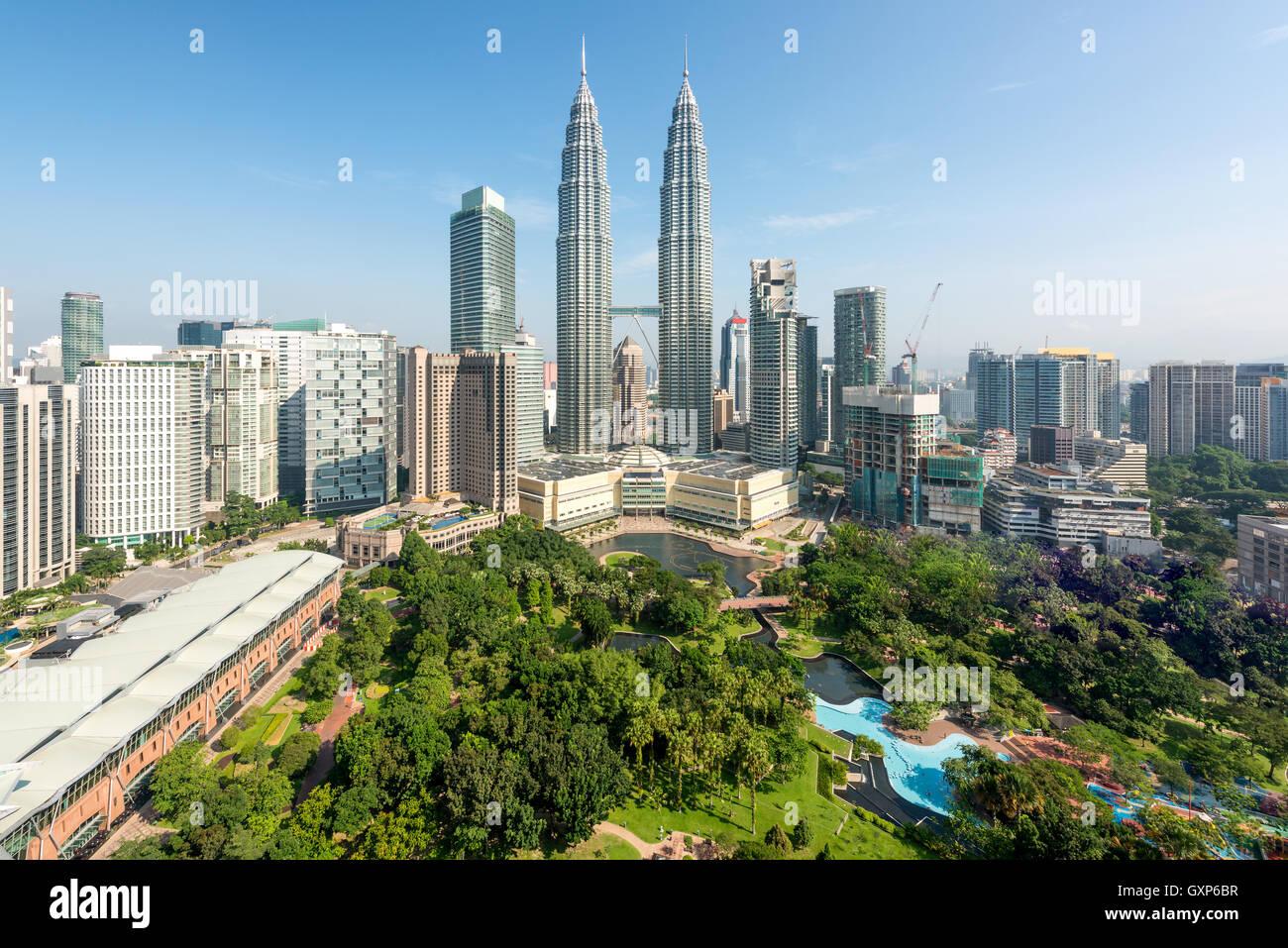 Le centre-ville de Kuala Lumpur et gratte-ciel de Kuala Lumpur, Malaisie Photo Stock