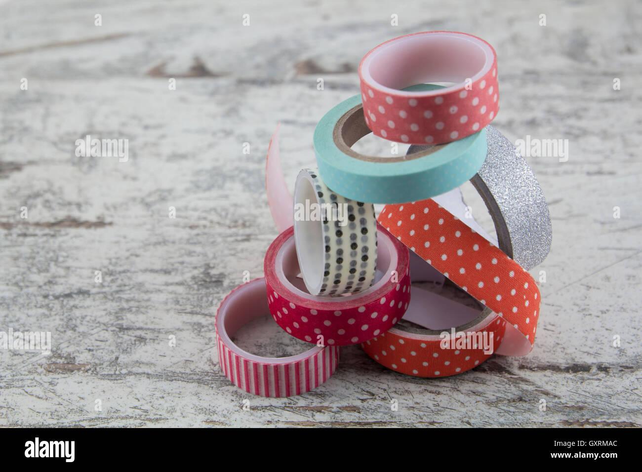 Washi bandes pour l'artisanat Photo Stock