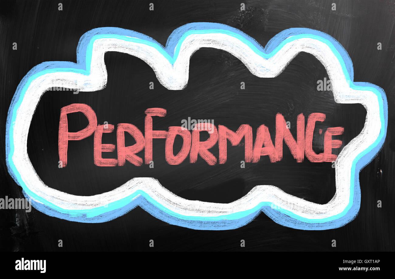 Performance Concept Photo Stock
