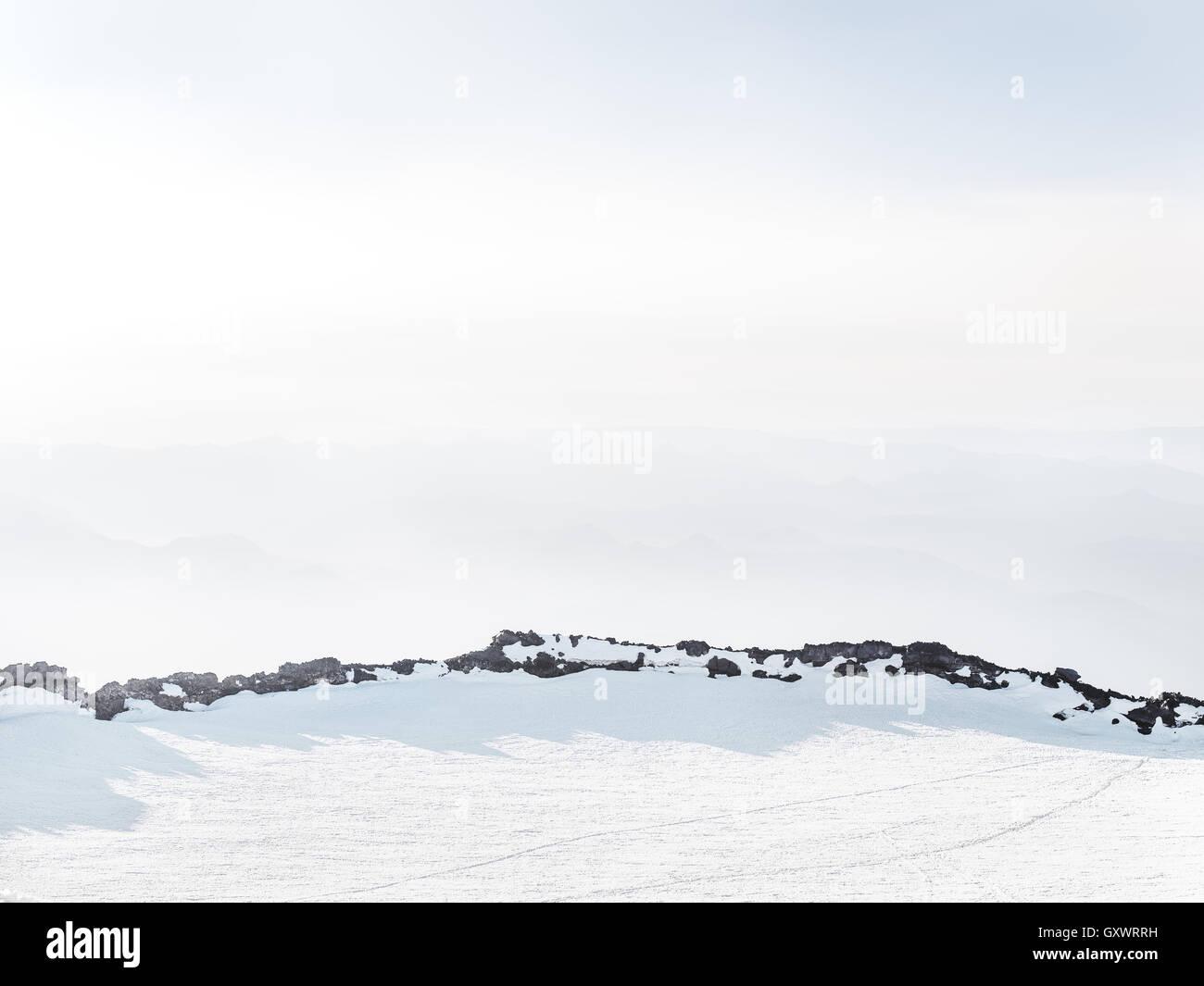 Vue depuis le trek jusqu'Mount Rainier National Park Photo Stock
