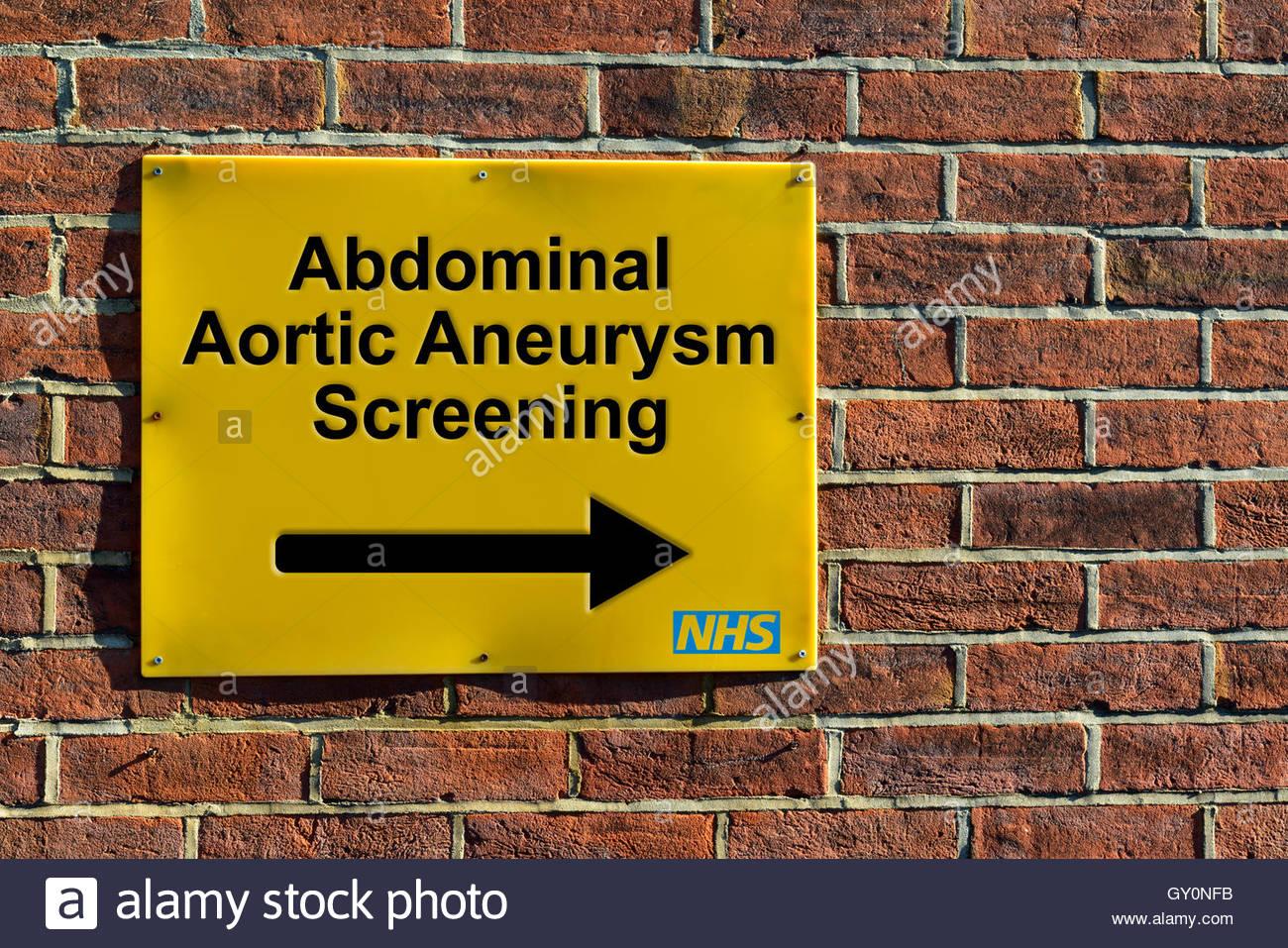 Dépistage des anévrismes de l'aorte abdominale, montage mural du NHS ...