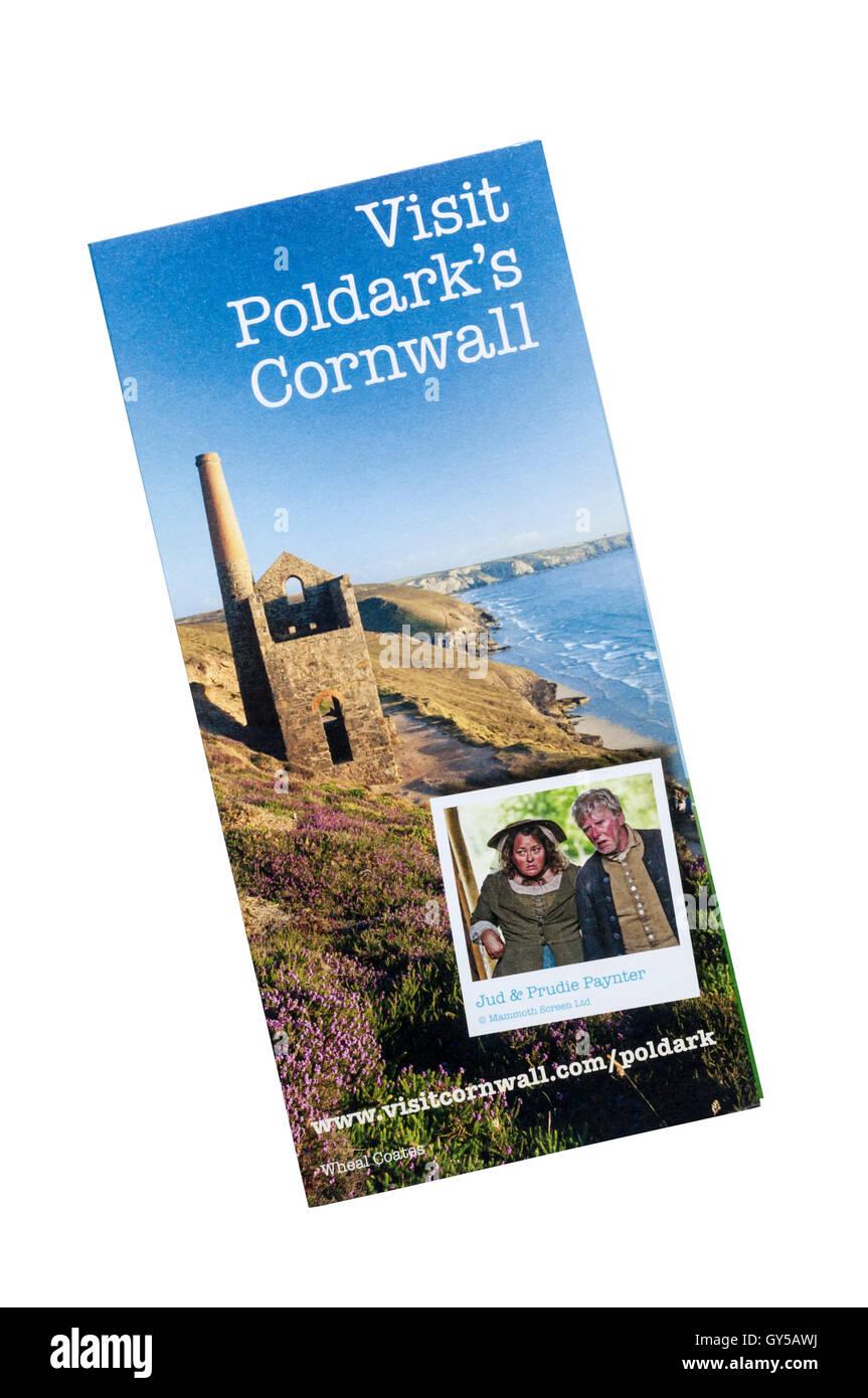Une brochure pour l'immeuble Poldark Cornwall sur la popularité de la série TV basée sur le Poldark Photo Stock