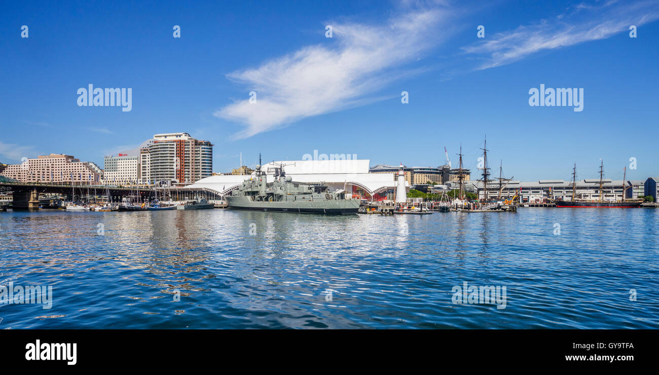 L'Australie, New South Wales, Sydney, Darling Harbour, vue de l'Australian National Maritime Museum Photo Stock