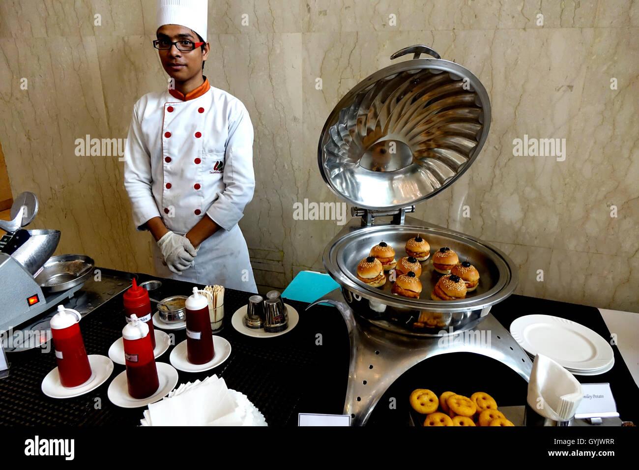 Un splendide déjeuner buffet à l'hôtel Country Inn & Suites, sahibabad, haut, Inde Photo Stock
