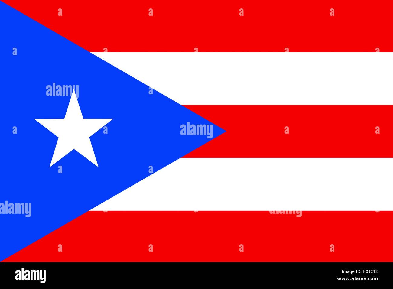 Flagge Puerto Ricos, Puerto Rico | Drapeau de Porto Rico, Porto Rico | BLWS419743.jpg [ (c) blickwinkel/McPHOTO/K. Photo Stock