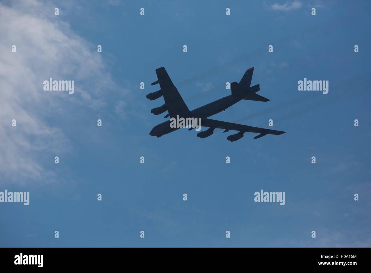 Boeing B-52 Stratofortress, bombardier à long rayon d'action de l'US Air Force, im Flug Banque D'Images