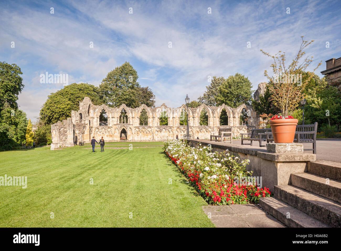 St Mary's Abbey, York, North Yorkshire, Angleterre, Royaume-Uni Photo Stock