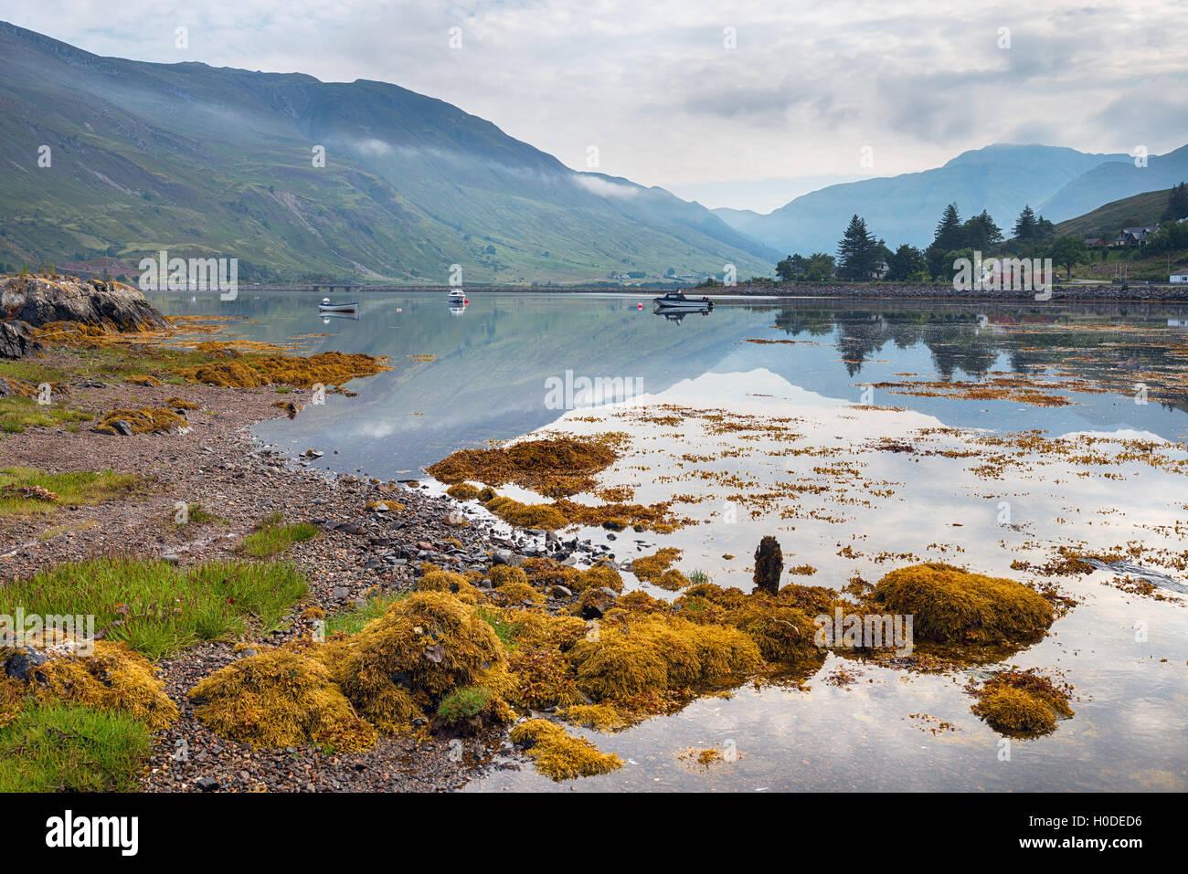 Loch Duich dans les highlands d'Ecosse Photo Stock