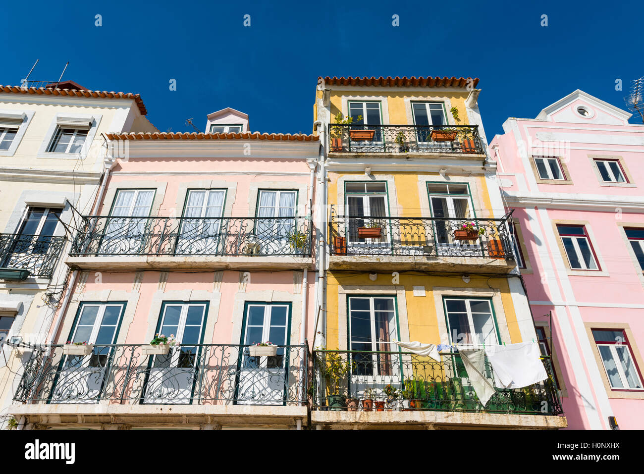 Maisons colorées, Belém, Lisbonne, Portugal Photo Stock