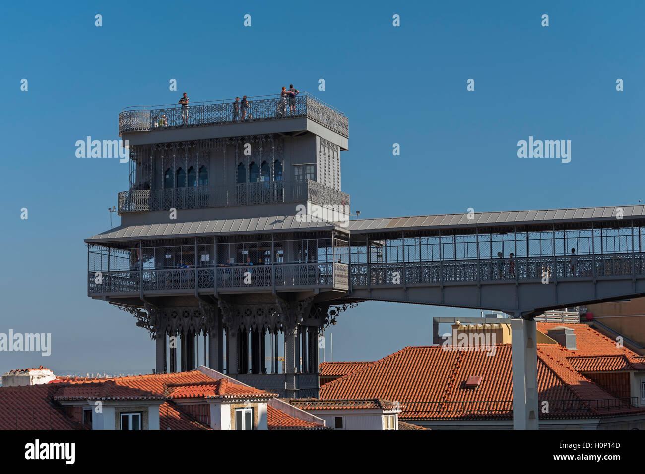 Ascenseur de Santa Justa Lisbonne Portugal Photo Stock