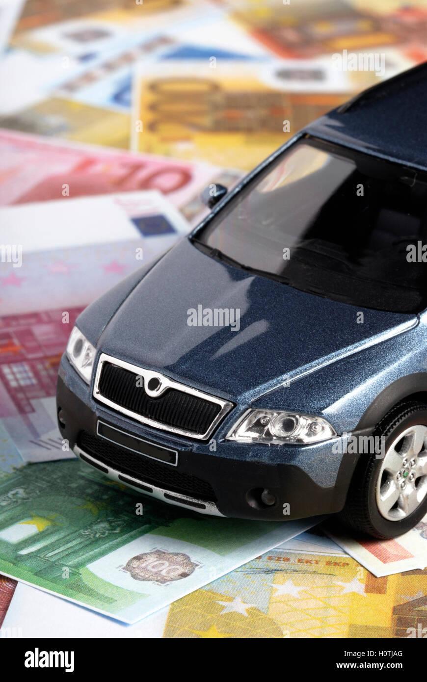Acheter une nouvelle voiture, concept Photo Stock