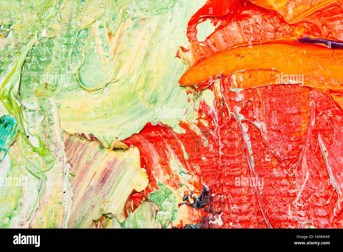 La prise de vue macro de rouge et vert de