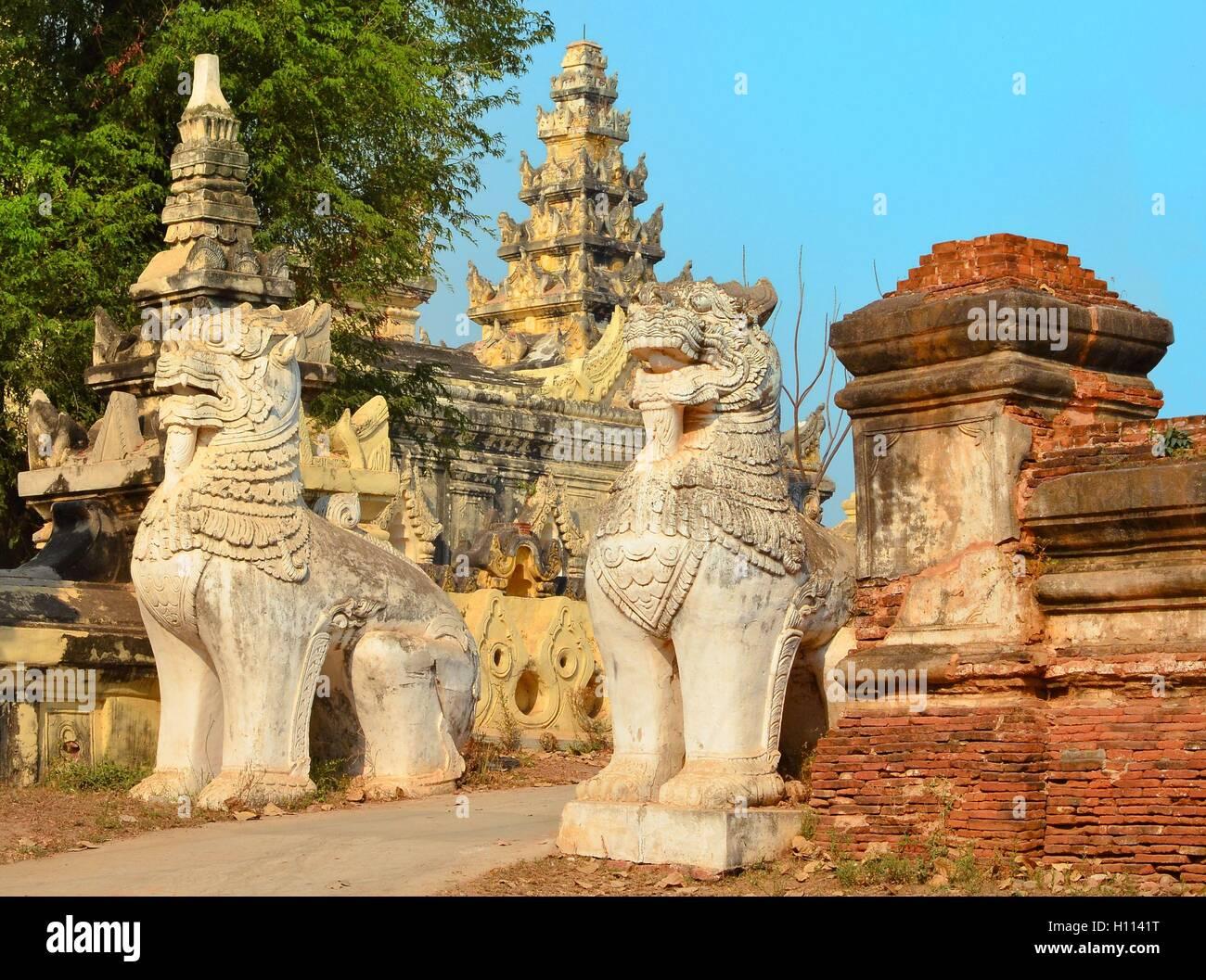Dans Maha Aungmye Bonzan lion Banque D'Images