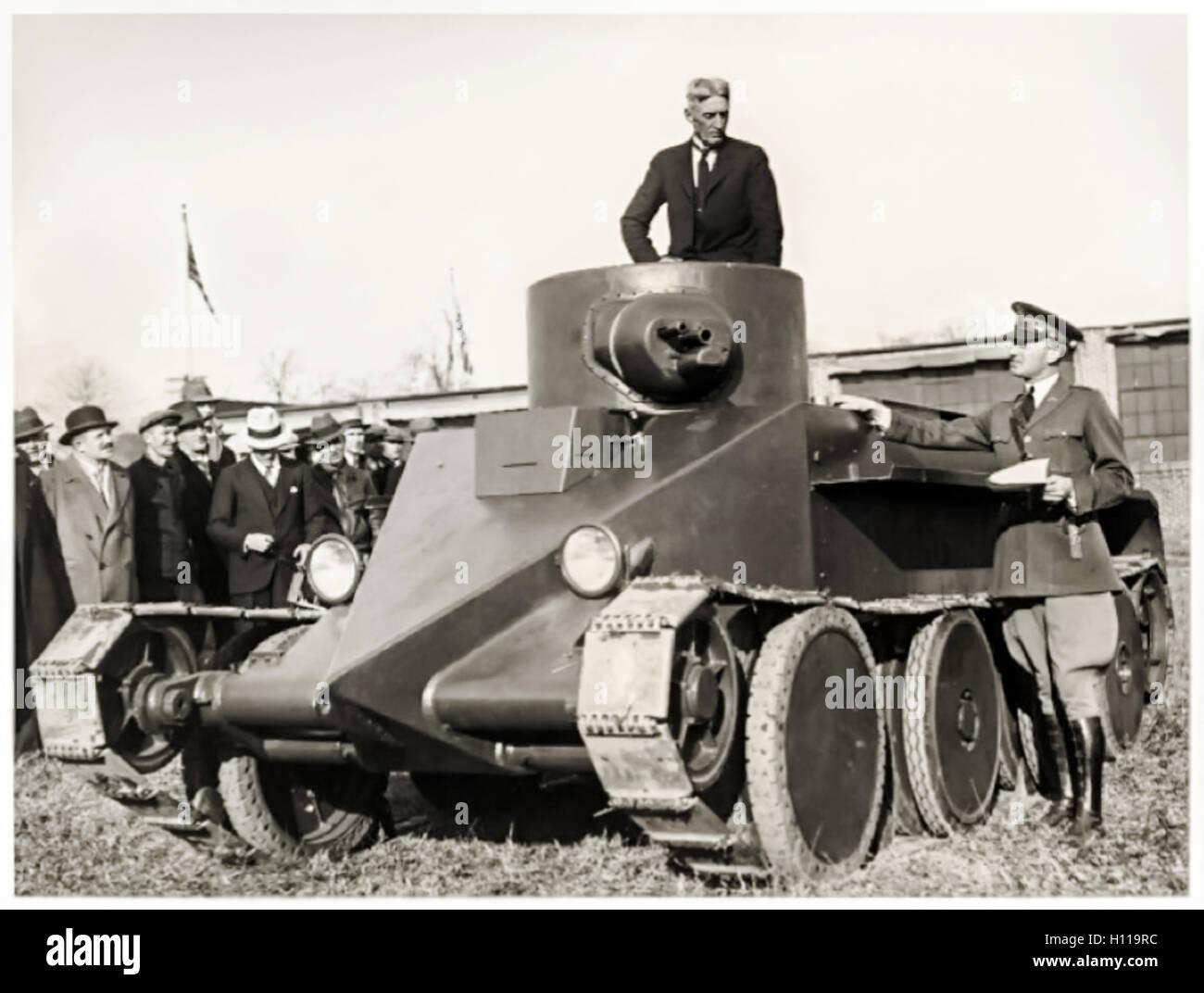 Arme Prototype john walter christie (1865-1944), ingénieur américain dans la