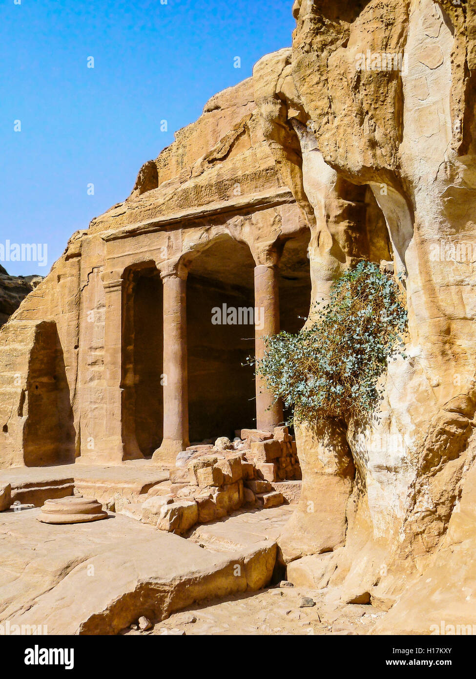 Tombes de Petra, Jordanie Banque D'Images