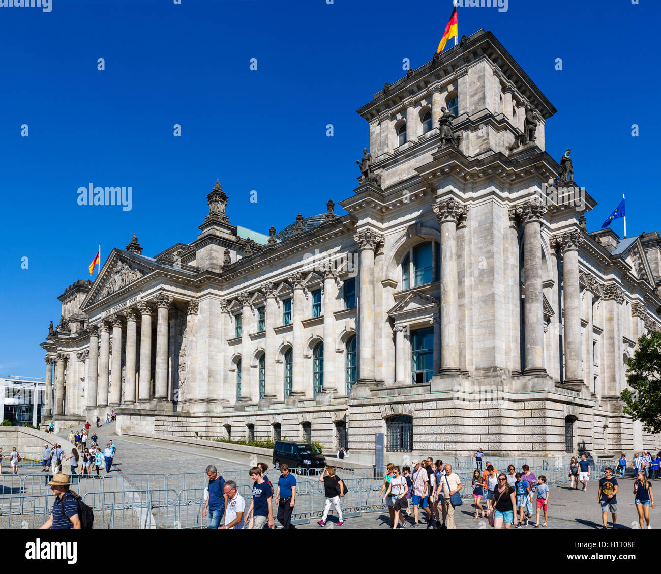 Le bâtiment du Reichstag, Berlin, Allemagne Photo Stock
