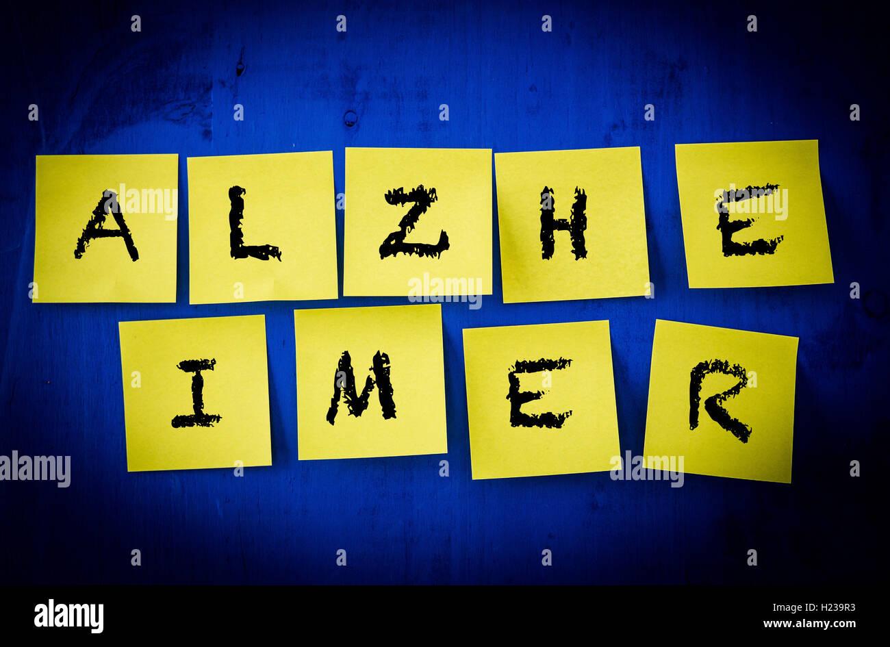 Concept de la maladie d'Alzheimer. Photo Stock