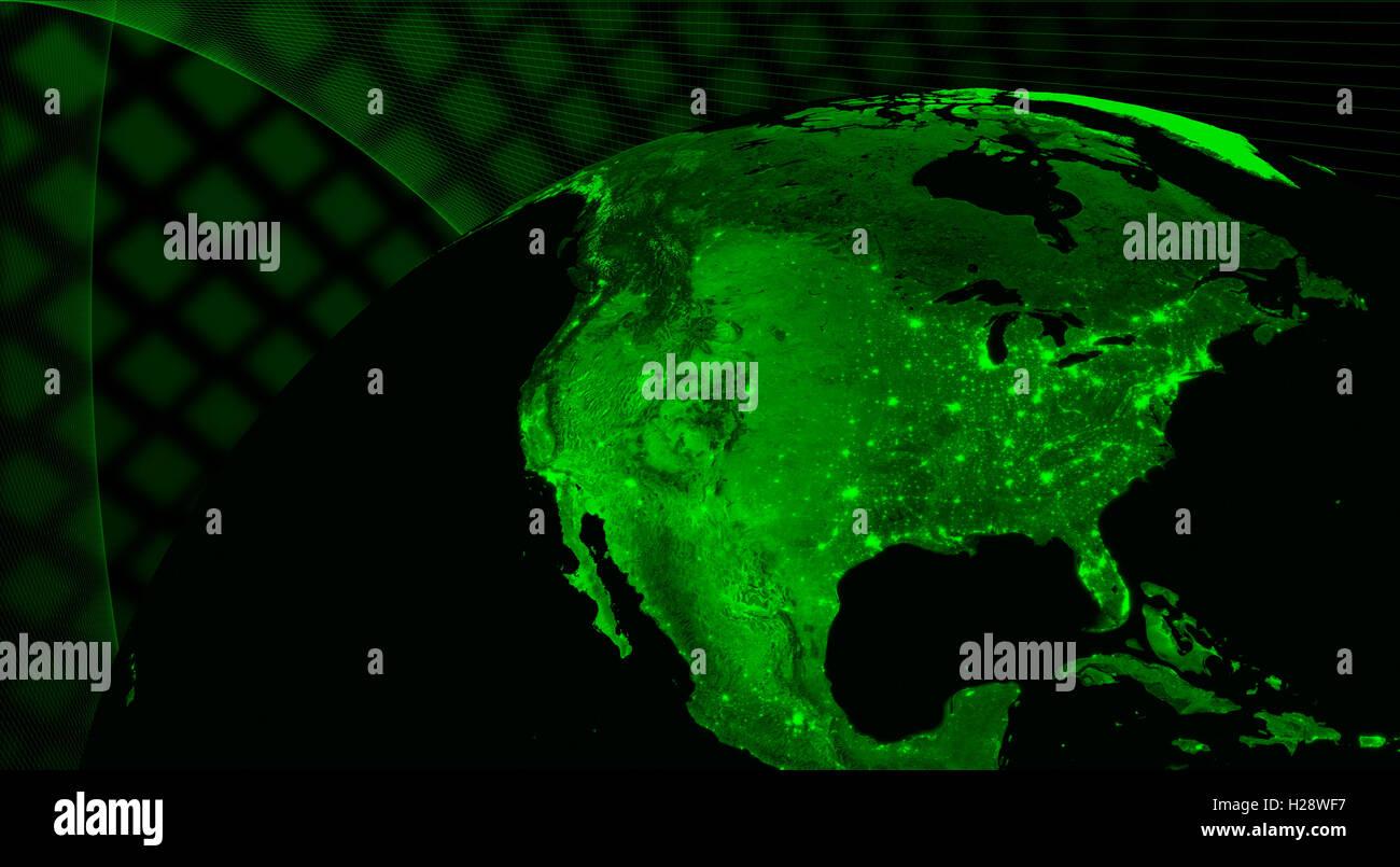 Amérique du Nord technologie concept Photo Stock