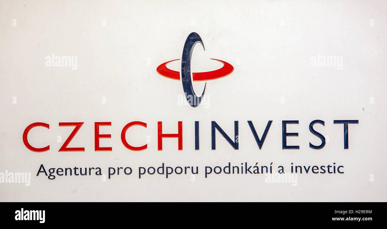 CzechInvest logo de l'entreprise investissent tchèque marque signe Photo Stock