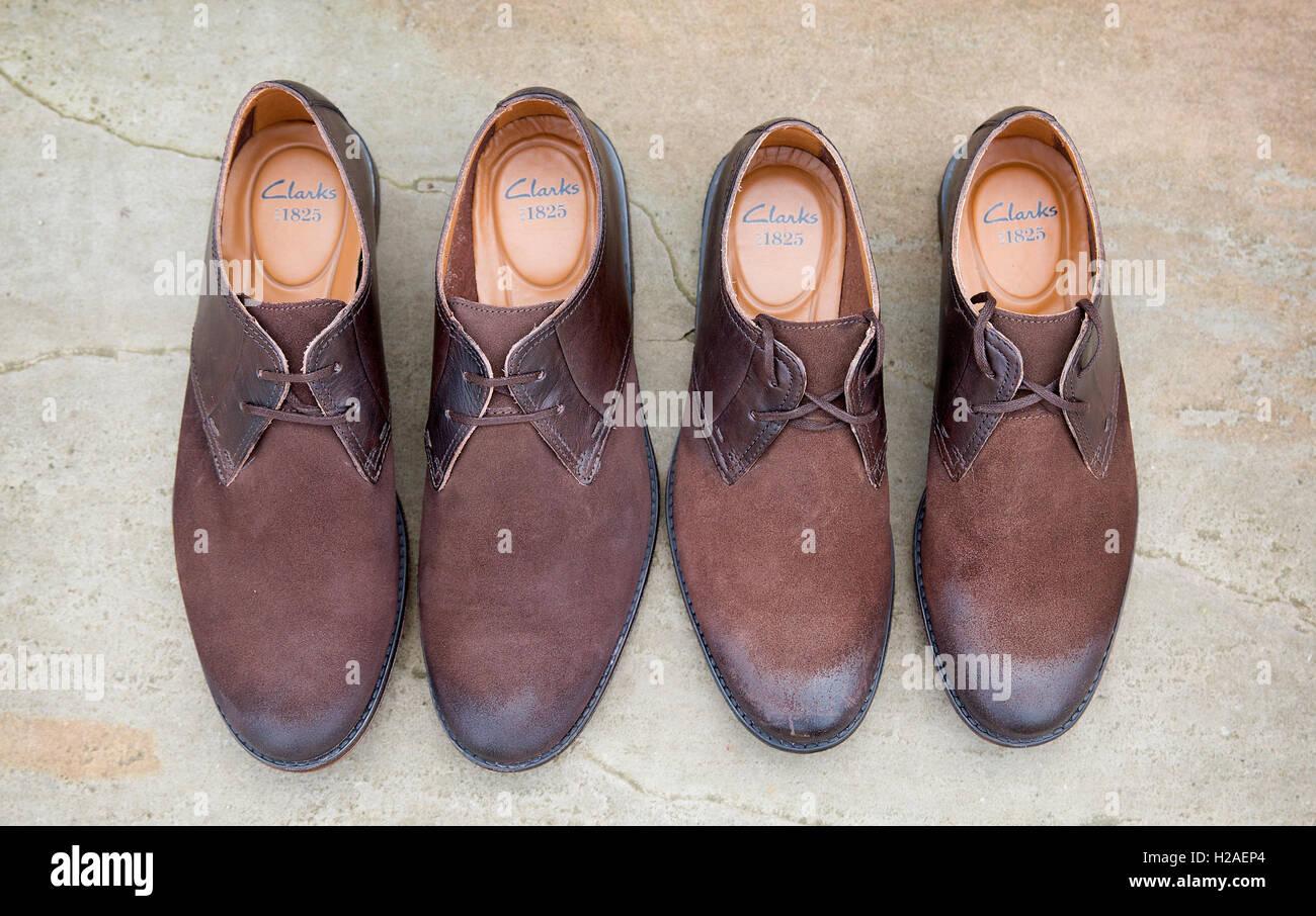 Deux paires de chaussures pour hommes brown Photo Stock
