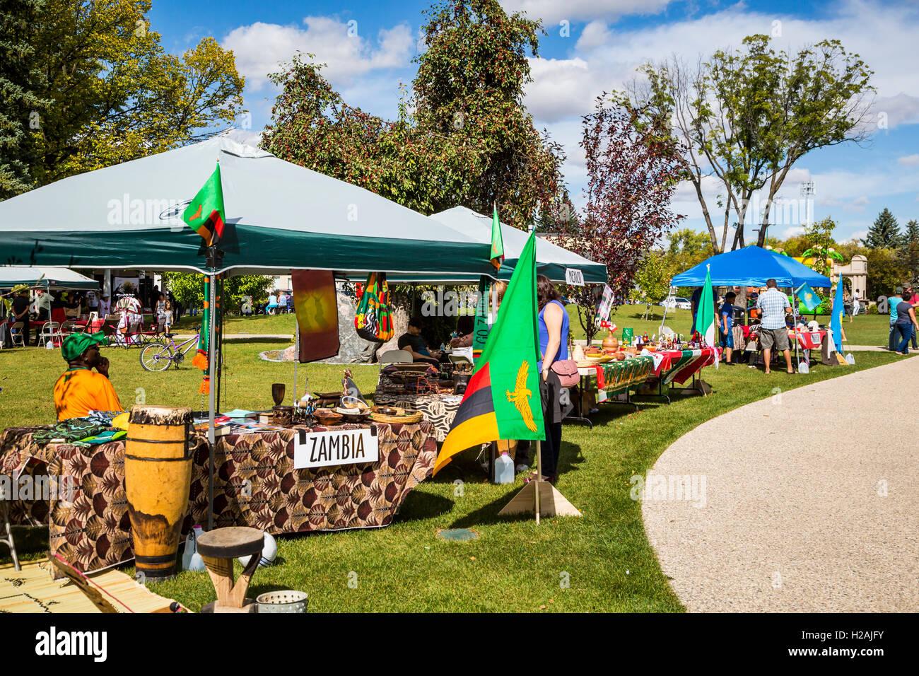 La Culture Fest 2016 tenue à la Bethel Heritage Park, à Winkler, au Manitoba, Canada. Photo Stock