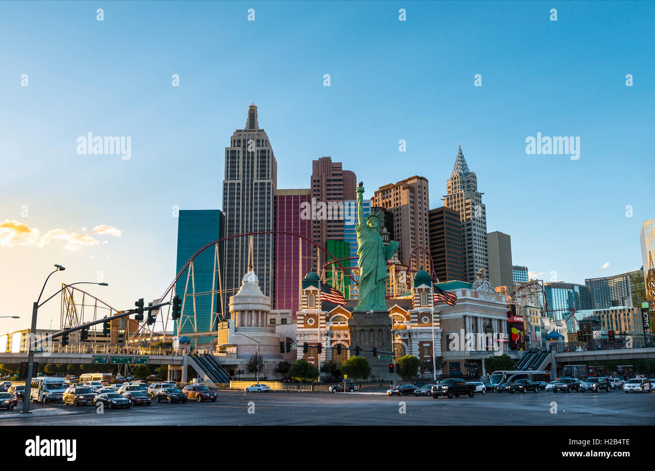 New York New York Hotel and Casino, Las Vegas, Nevada, USA Photo Stock