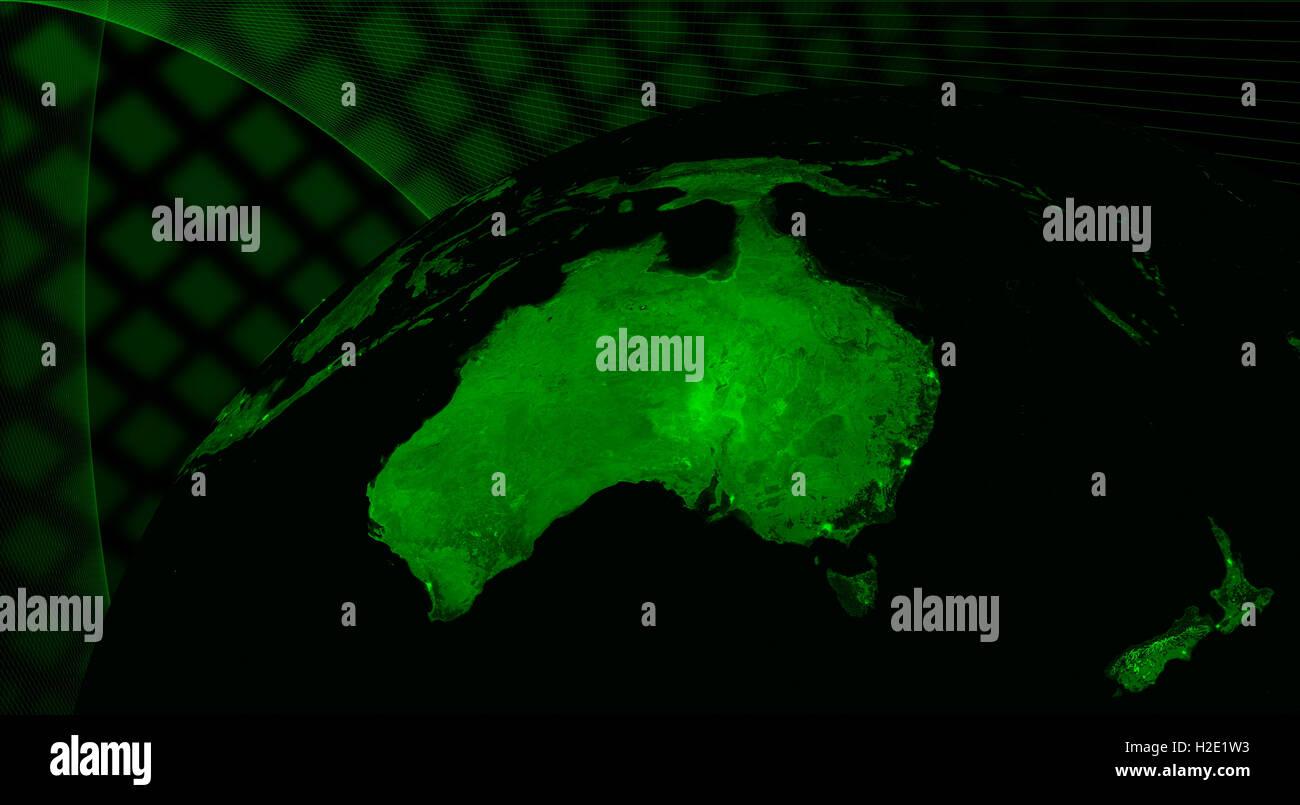 L'Australie technologie concept Photo Stock