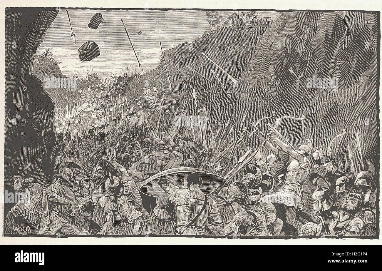 """Retrait des Athéniens de Syracuse - de 'Cassell's Illustrated Histoire universelle"""" - 1882 Banque D'Images"""