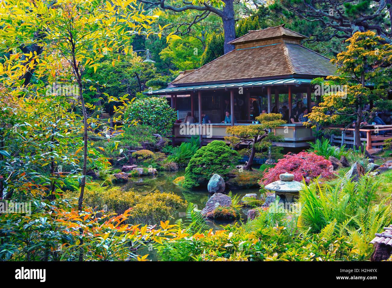 Jardin japonais dans le parc du Golden Gate, San Francisco Photo Stock