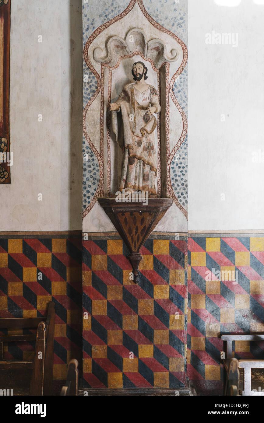 Modélisation géométrique à l'intérieur d'une église catholique à Tuscon, Photo Stock