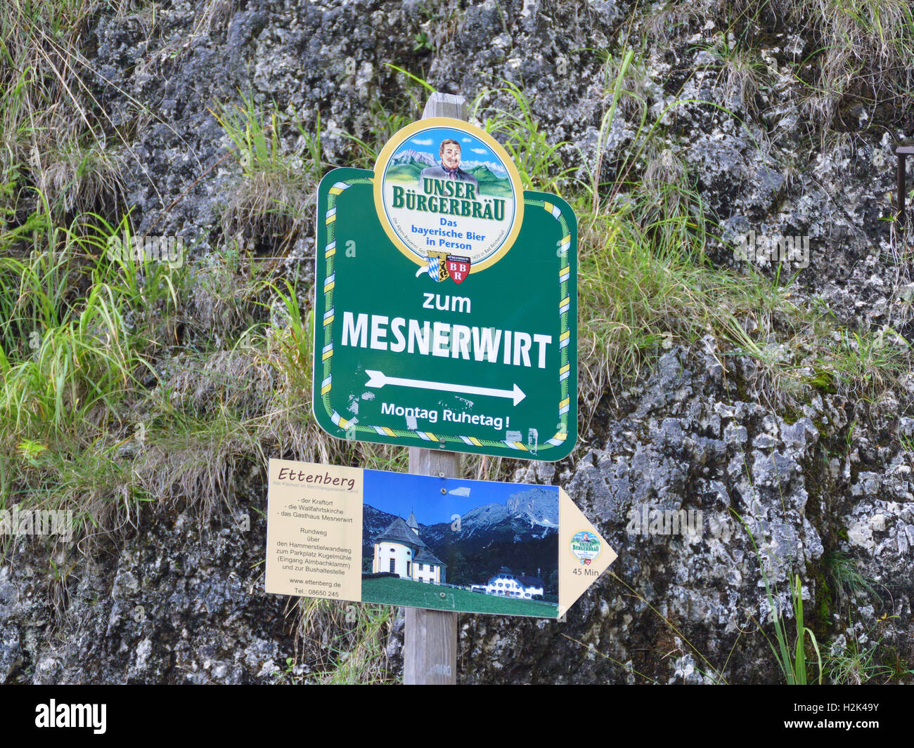 Le parc national de Berchtesgaden Bischofswiesen Almbach Sulzer klamm Gorge cascade Canyon Bavaria Allemagne Europe Banque D'Images