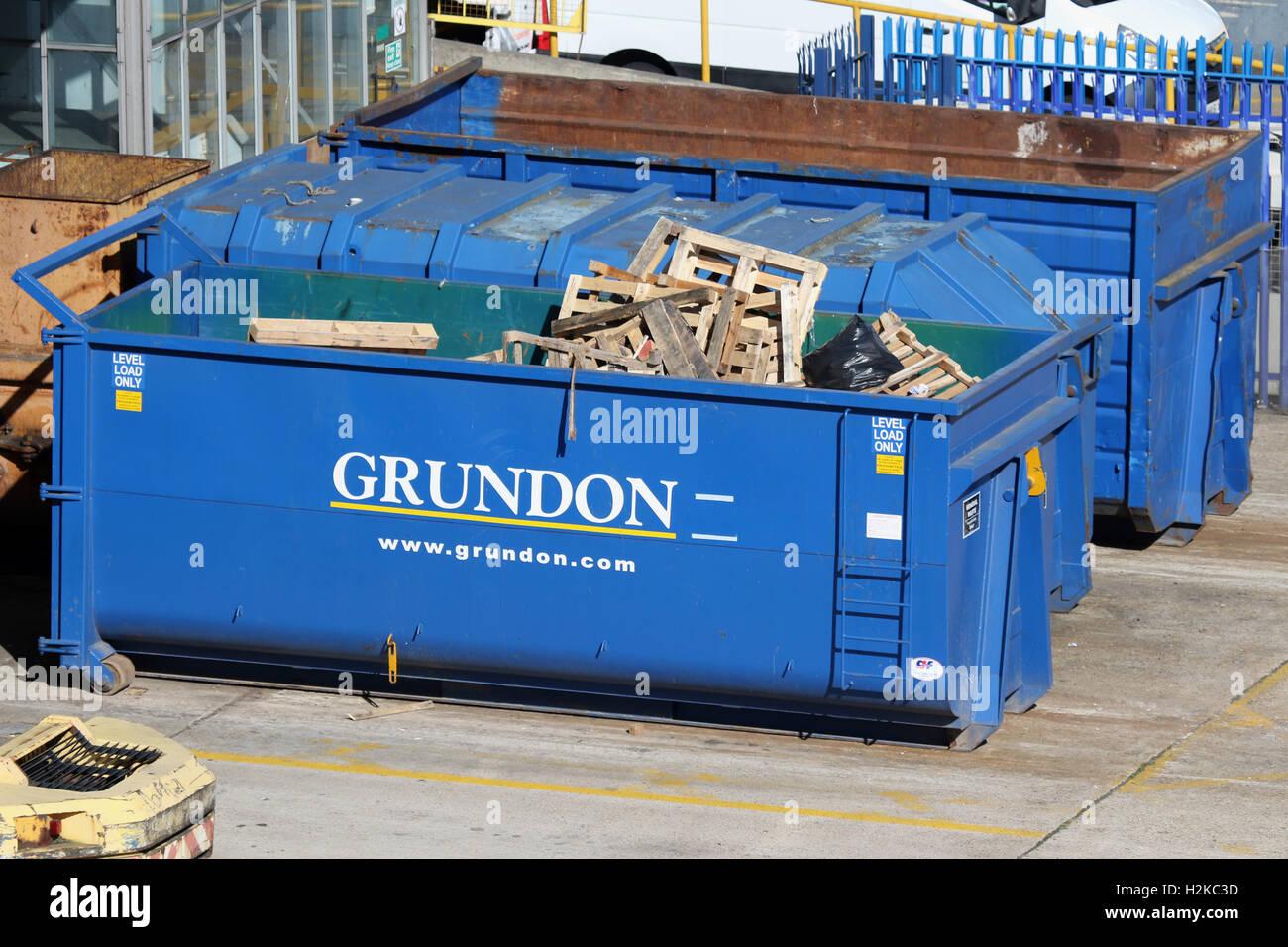 Gestion des déchets GRUNDON Photo Stock