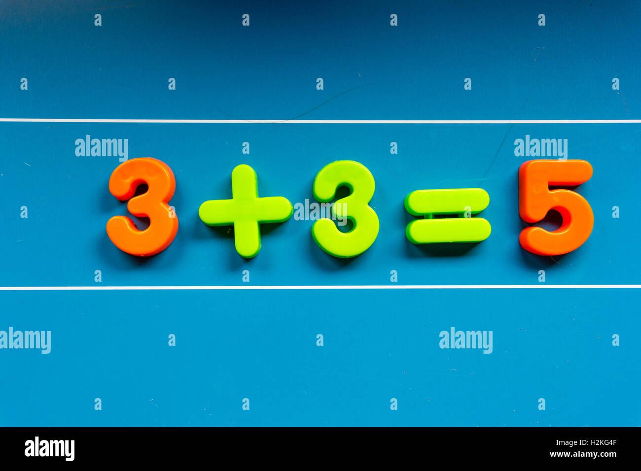 Erreur dans l'épreuve de mathématiques Photo Stock