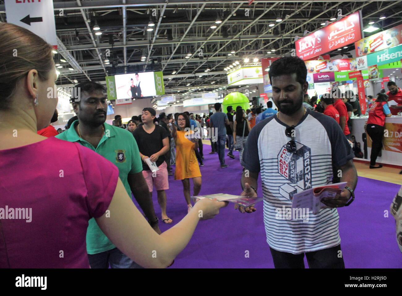 Dubai World Trade Centre, Dubaï ÉMIRATS ARABES UNIS. 1er octobre 2016. Le premier de son genre dans la Photo Stock