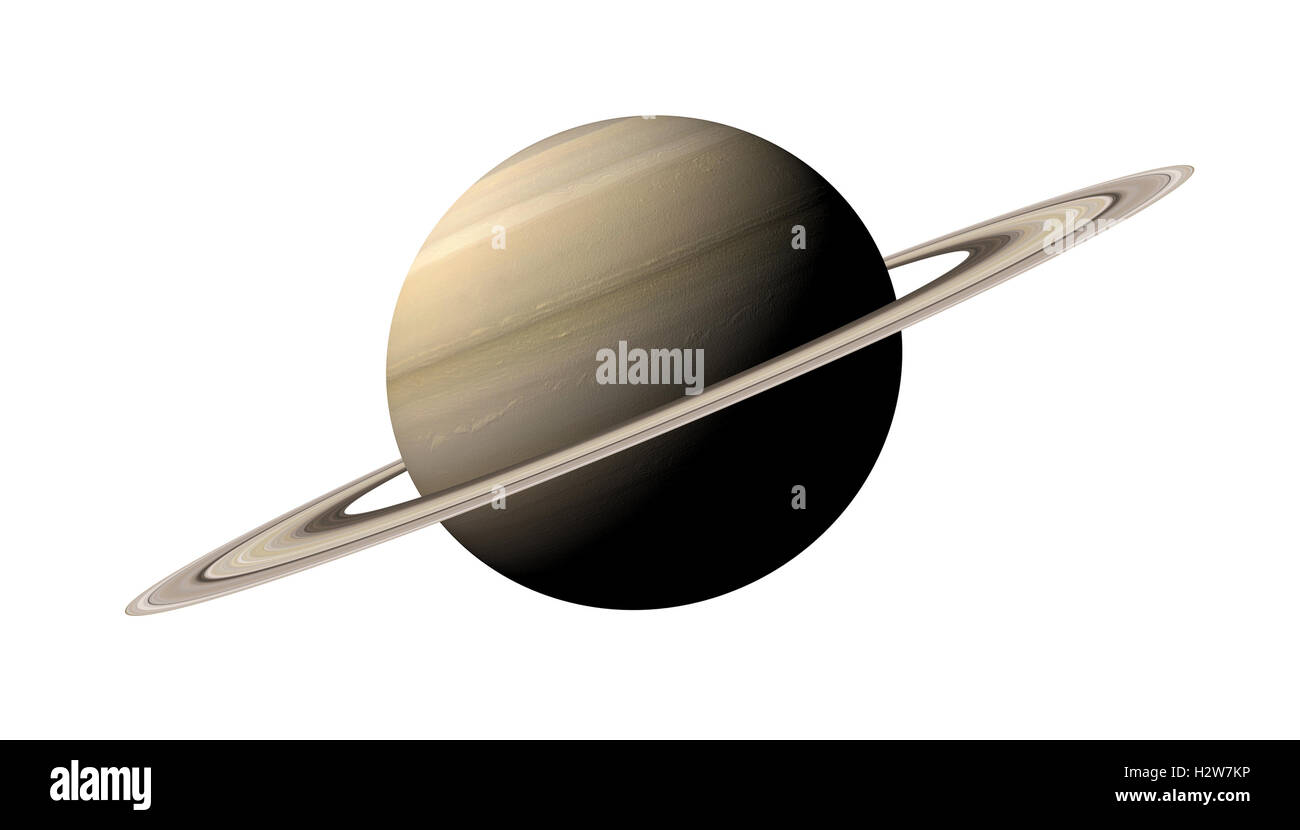 Le rendu 3D de la planète Saturne isolé sur fond blanc. Éléments de cette image fournie par Photo Stock
