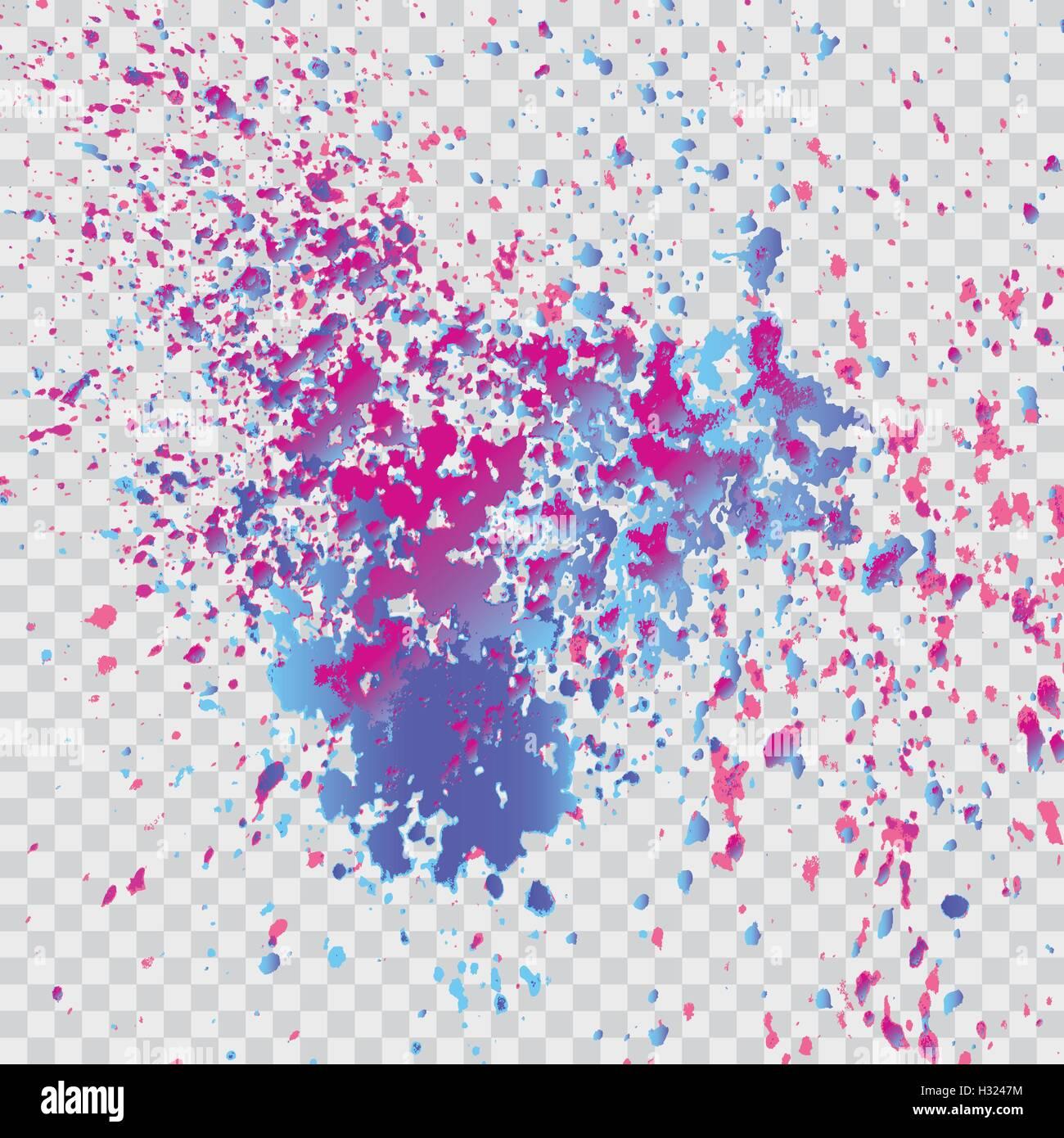 Peinture Blanche A Paillette explosion de peinture colorée splatter. isolé sur fond gris