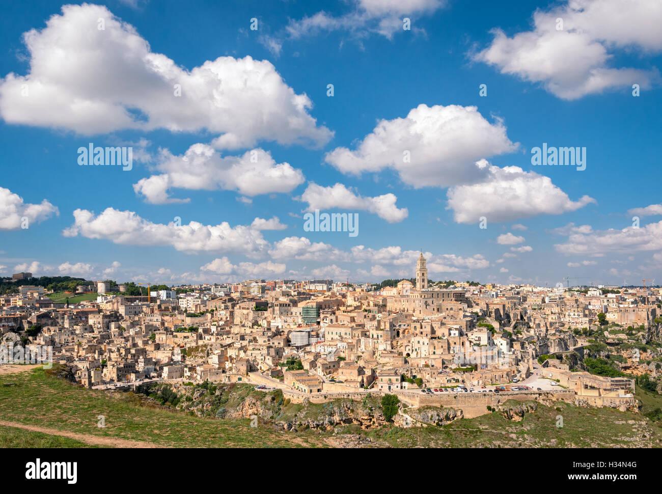 Matera Basilicate (Italie) panorama pittoresque Banque D'Images