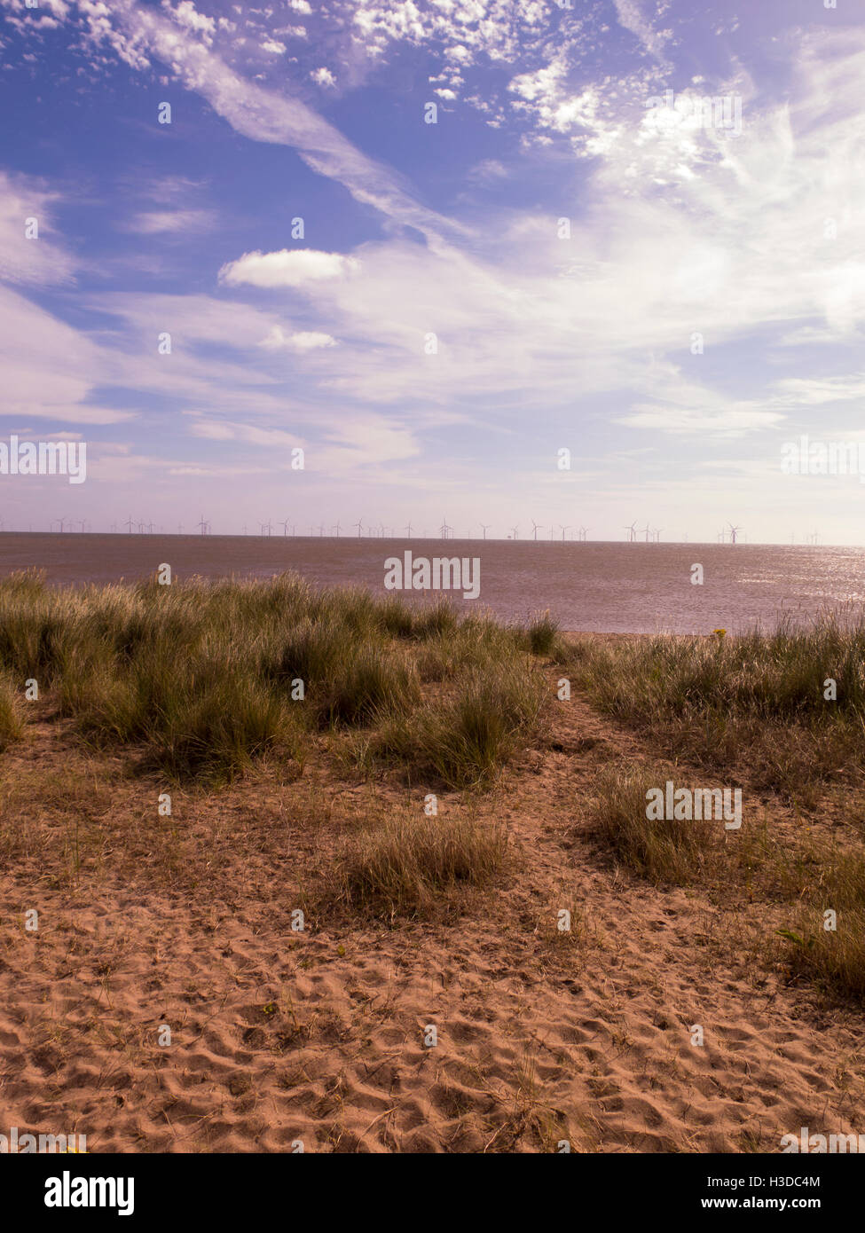 Beach Lincolnshire UK Banque D'Images