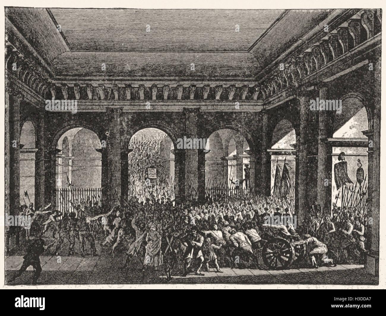 La foule dans le jardin des Tuileries, le 20 juin, 1792 Photo Stock