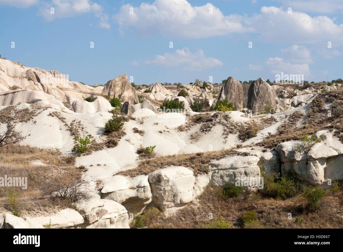 Magnifique vue sur la vallée de la région de Cappadoce, Turquie Banque D'Images