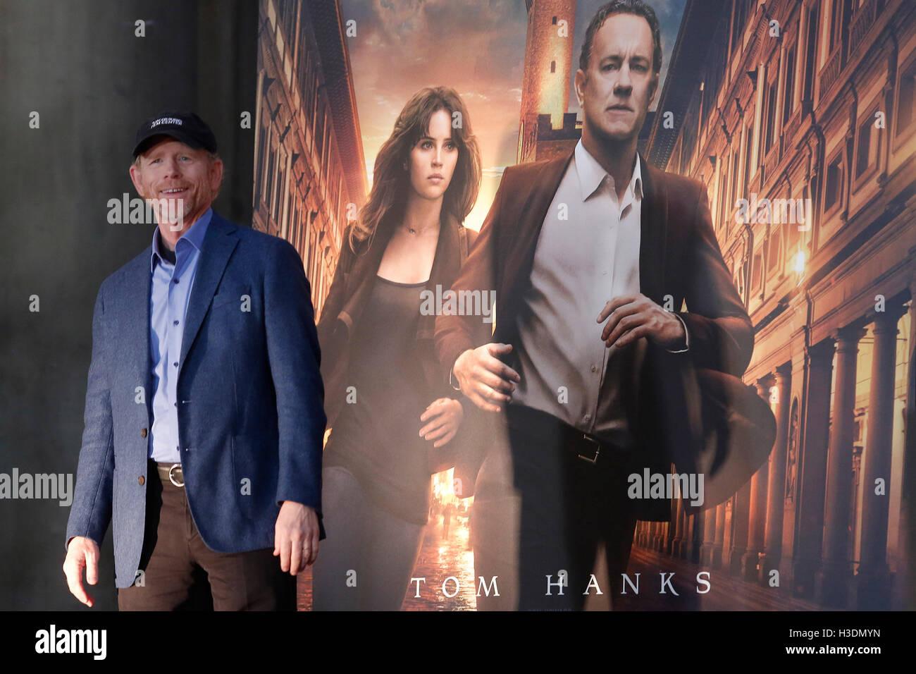 Florence, Italie. 6 octobre, 2016. Ron Howard Florence 6e octobre 2016. 'Inferno' Photocall, première Photo Stock