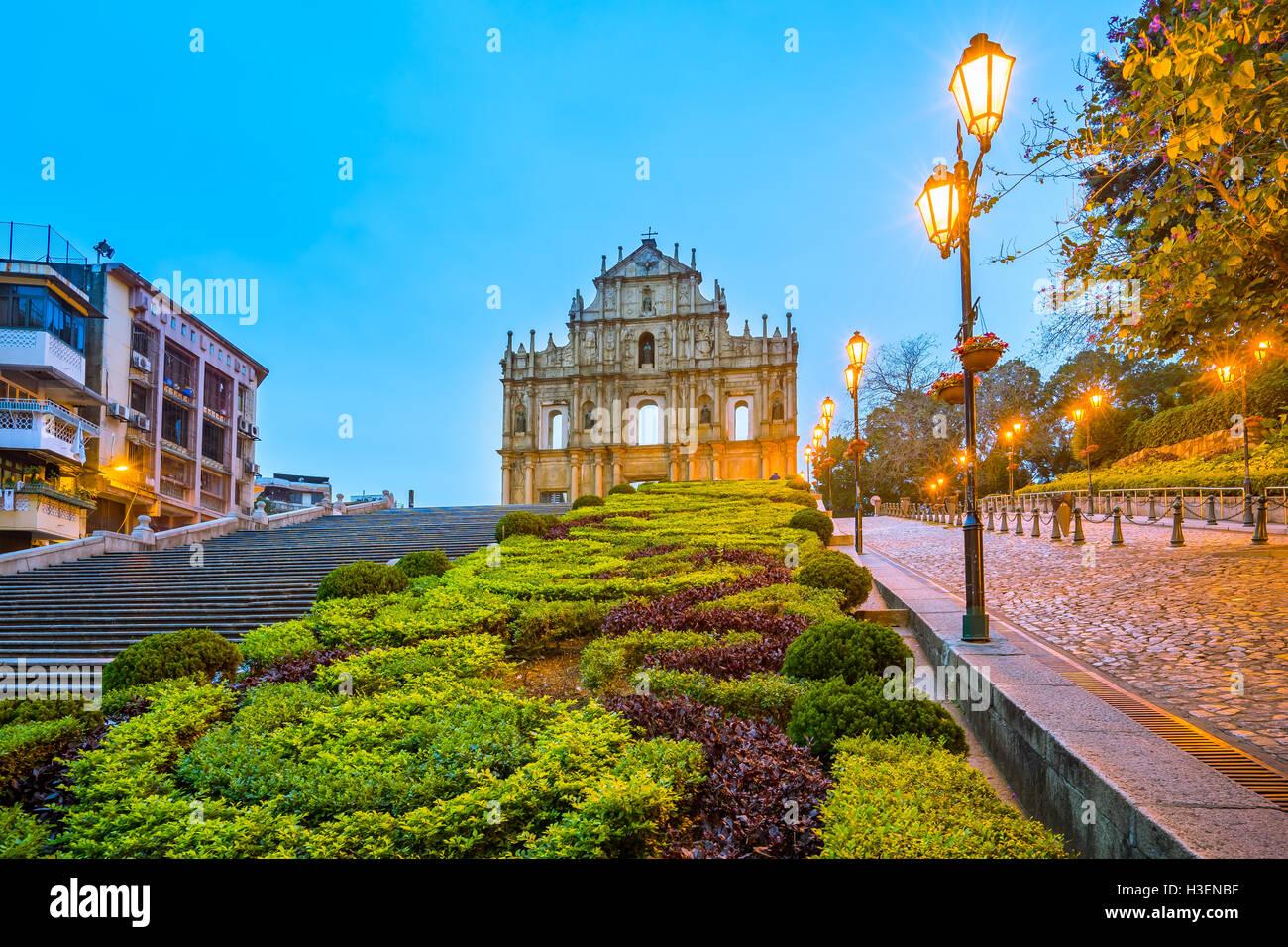 Les Ruines de Saint-Paul à Macao. Photo Stock