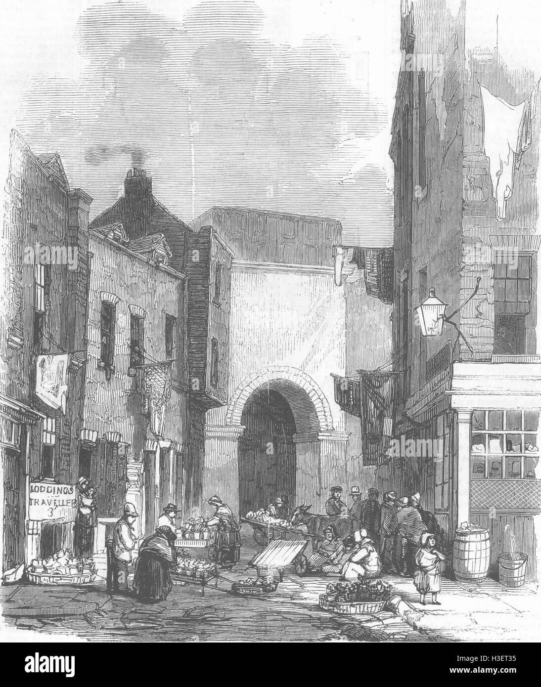 Réservoir d'eau de Londres à St Giles's-in-the Fields 1858. Illustrated London News Photo Stock