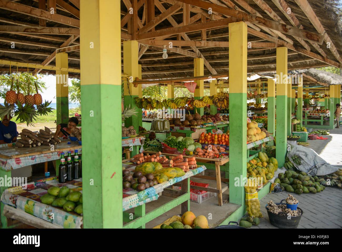 Marché de Fruits et légumes, Dili, Timor Leste Banque D'Images